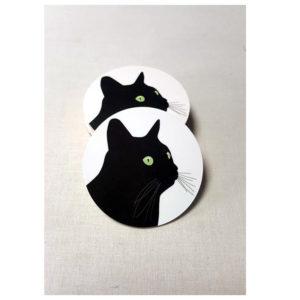 Glasunderlägg Svarta Katten